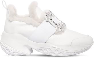 Roger Vivier 75mm Viv Run Leather Sneakers