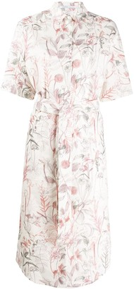 Agnona printed shirt dress