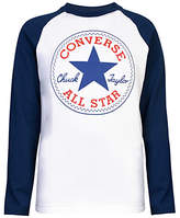 Converse Boys' Chuck Patch Long Sleeve T-Shirt, White