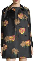 RED Valentino Bouquet-Pattern Brocade Topper Jacket