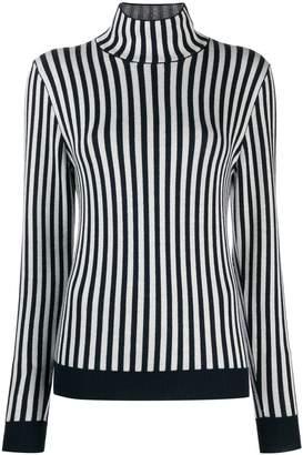 Sara Lanzi striped funnel neck jumper
