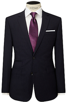 John Lewis Stripe Tailored Fit Suit Jacket, Navy