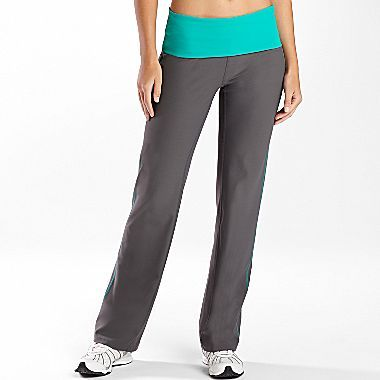 JCPenney XersionTM Workout Pants, Foldover Waist