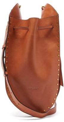 Isabel Marant Taj Small Studded Suede Bucket Bag - Brown