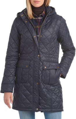 Barbour Jenkins Quilted Nylon Jacket with Removable Hood