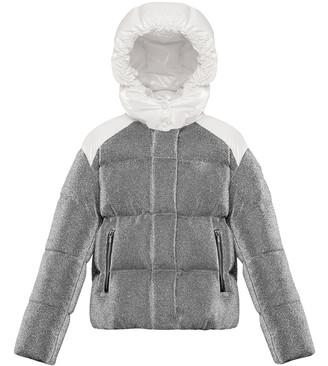 Moncler Chouette Sparkles Detachable-Hood Puffer Coat, Size 8-14