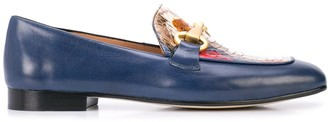 Madison.Maison Snakeskin Embossed Loafers
