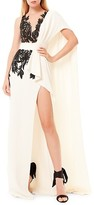Thumbnail for your product : ZUHAIR MURAD Illusion Embroidered Side Slit Gown