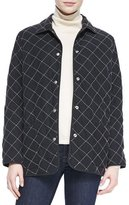 Go Silk Quilted Silk Barn Jacket, Petite