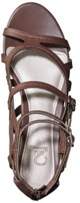Mia 2 Women's Creda Tall Gladiator Wedge Sandal - Brown