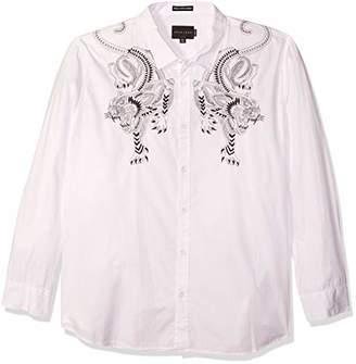 Sean John Men's Opulence Panther Long Sleeve Button Down Shirt
