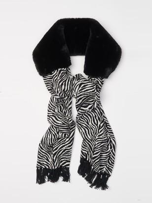 J.Mclaughlin Ren Scarf with Faux Fur in Zebra