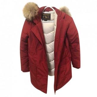 Woolrich Red Fur Coat for Women
