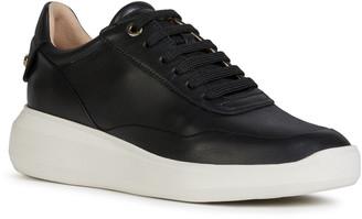 Geox Rubidia Leather Low-Top Sneakers