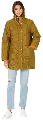 J.Crew Puffer Jacket (Warm Olive) Women's Coat