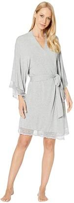 Eberjey Colette - Kimono Robe (Heather Grey) Women's Robe