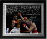 "Steiner Sports Boxing Micky Ward Fighting Facsimile 16"" x 20"" Framed Metallic Story Photo"