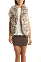 Yigal Azrouel Cut 25 By Cut 25 Rabbit Fur Vest in Cheetah