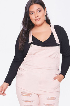 Forever 21 Plus Size Distressed Overalls