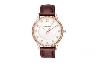 Jean Bellecour Unisex-Adult Analogue Classic Quartz Watch with Leather Strap REDK4