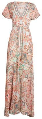 Etro V-Neck Long Dress