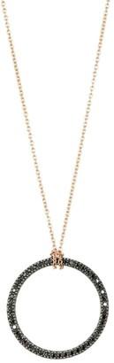 ginette_ny Black Diamond Icons Ring Pendant Necklace