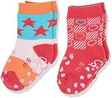 Sterntaler Baby Girls' Abs-Krabbelsöckchen DP Sterne Calf Socks-Pack of 2-, 2