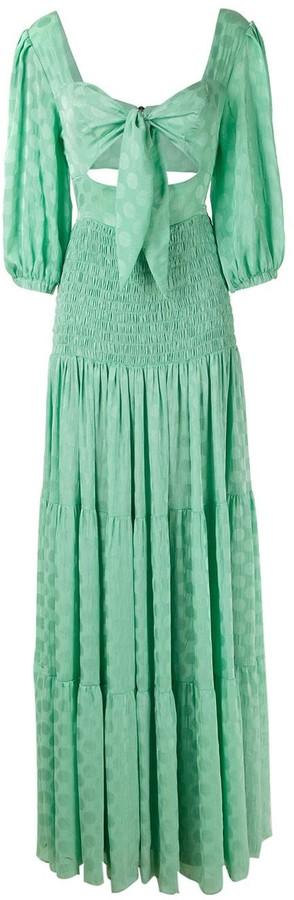 PatBO Knot-Detail Maxi Dress
