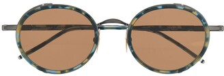 Thom Browne Eyewear Tortoise Border Sunglasses