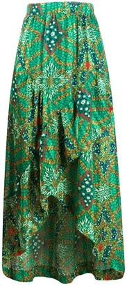 BA&SH Hall floral-print skirt