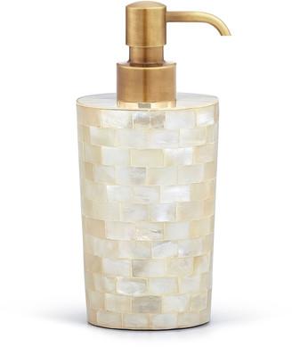 Labrazel White Agate Soap Dispenser w/ Burnished Brass Pump