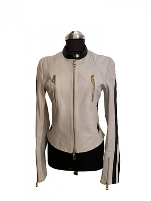 Julien Macdonald Julien Mac Donald White Leather Leather Jacket for Women