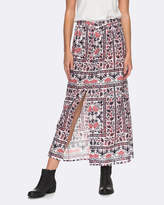 Roxy Womens Lost In My Mind Printed Maxi Skirt