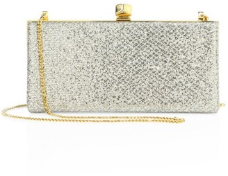 Jimmy Choo Celeste Glitter Box Clutch