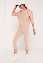Missguided Tall Brushed Back Sweatshirt Pink
