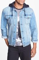Topman Hooded Denim Jacket
