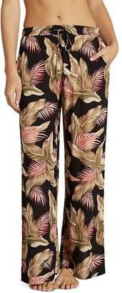 Billabong Heartbeats Palm Print Wide-Leg Pants