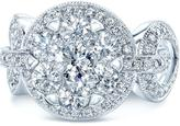 Ice 2 CT TW Diamond 14K White Gold Equestrian-Inspired Engagement Ring