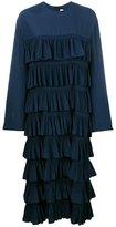 Marni tiered ruffled dress - women - Silk/Acetate - 40