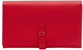 Lulu Guinness Red Lip Pin Juno Wallet