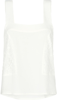 Oxford India Lace Panel Top Off White X