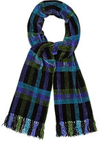 Barneys New York MEN'S CHECKED CHENILLE SCARF