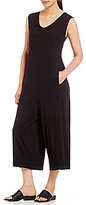 Eileen Fisher V-Neck Cropped Jumpsuit