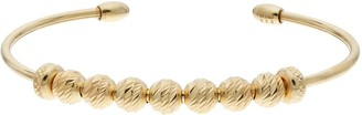 Unbranded 14k Gold Over Silver Beaded Cuff Bracelet