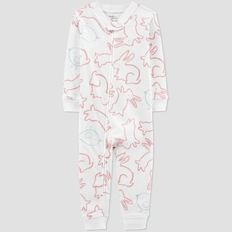 Carter's Baby Girls' Bunny Pajama Jumpsuit - little planet organic