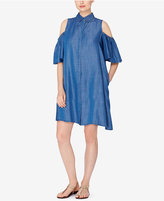 Catherine Malandrino Cold-Shoulder Shirtdress