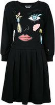 Moschino cartoon face print dress - women - Cotton - 44