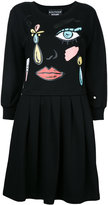 Moschino cartoon face print dress