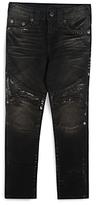 True Religion Boys' Moto Jeans with Foil Details - Big Kid
