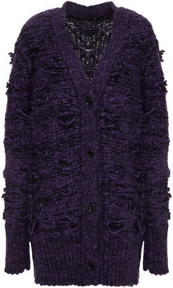 MM6 MAISON MARGIELA Distressed Marled Knitted Cardigan